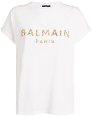 Balmain Sequin Logo T-Shirt