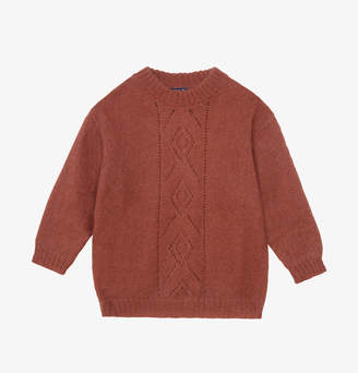 soeur Pull Gine Hazelnut Ecureuil large wool sweater - Mohair | red brown | 2/36 - Red brown