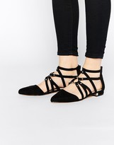 Asos LORI Caged Pointed Ballet Flats