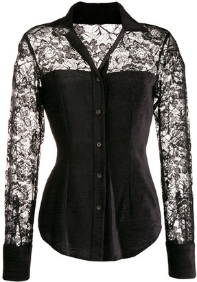Romeo Gigli Pre-Owned 1990's Corset Style Lace Shirt