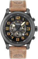 Timberland Men's Tilden Light Brown Leather Strap Watch 48mm