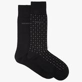 HUGO BOSS BOSS Mini Square Plain Socks, Pack of 2, Black