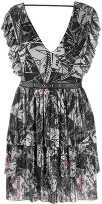Patrizia Pepe Ska-print flared dress