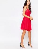 Little Mistress Cami Skater Dress in Contrast