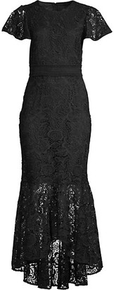 Shoshanna Wilton Lace High-Low Dress