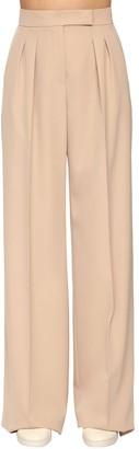 Max Mara Pleated Wool Gabardine Wide Pants
