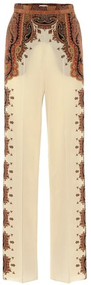 Etro Wide-leg printed silk pants