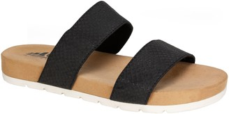 White Mountain Cliffs by Double Strap Flat Sandals - Tahlie