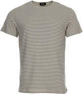 A.P.C. Striped T Shirt Paul COCAC-H26428-AAD Ecru / Black