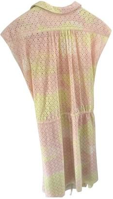 Zadig & Voltaire Spring Summer 2018 Pink Cotton Dress for Women