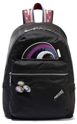 Marc Jacobs Embellished Shell, Mesh And Leather Backpack