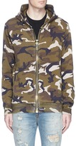 Palm Angels Camouflage print maxi puller zip hoodie