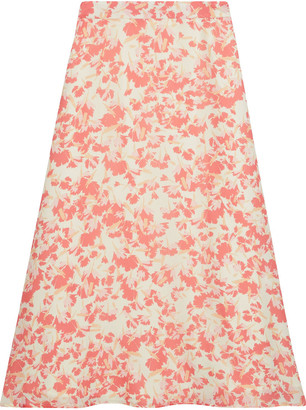 Iris & Ink Maryam Printed Crepe De Chine Midi Skirt