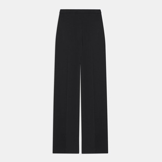 Theory Wide Leg Pull-On Pant in Silk Georgette