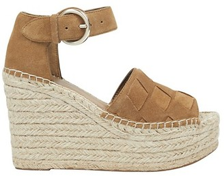 Marc Fisher Adalla Basketweave Suede Platform Wedge Sandals
