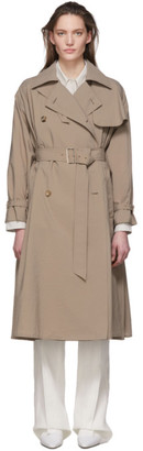 Max Mara Taupe Falster Trench Coat