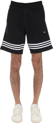 adidas Logo Outline Cotton Shorts