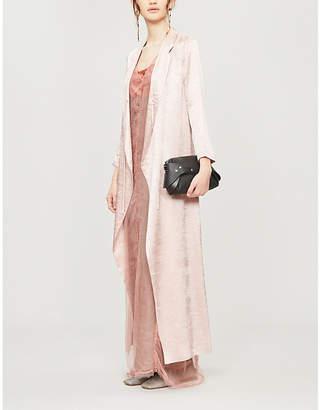 Phaedo Layered Semi-Sheer Silk Maxi Dress