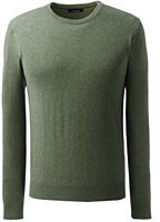 Classic Men's Tall Fine Gauge Cashmere Crewneck Sweater-Dark Camel Heather
