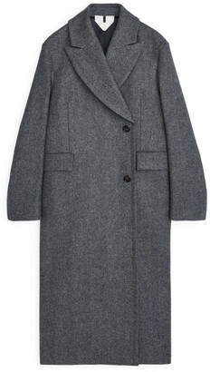 Arket Double-Breasted Tweed Coat