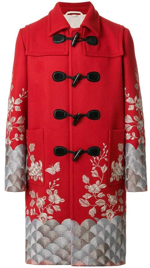 Gucci embroidered twill coat