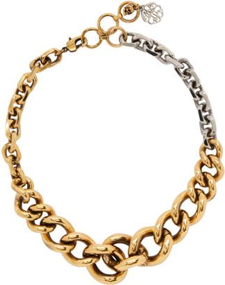 Alexander McQueen Gold and Silver Chain Choker