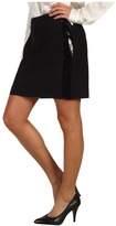 MICHAEL Michael Kors Sequin Tux Stripe Skirt (Black) - Apparel