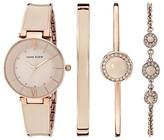 Anne Klein Blush Pink Watch and Bracelet Set (Blush/Rose Gold-Tone) Watches