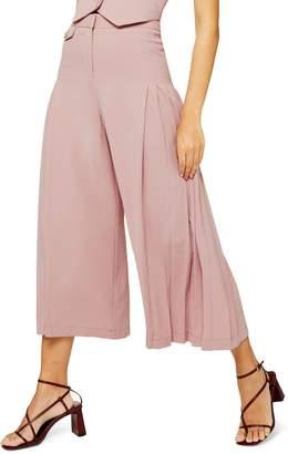 Topshop Crop Wide Leg Trousers