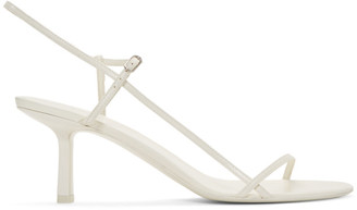 The Row White Bare 65MM Heeled Sandals