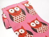 The Well Appointed House Eco Designer Baby Blanket in Pink Owl Pattern