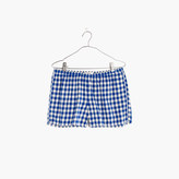 Madewell Flannel Bedtime Pajama Shorts in Gingham Check
