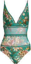 Zimmermann Tropicale Triangle sheer-inserts swimsuit