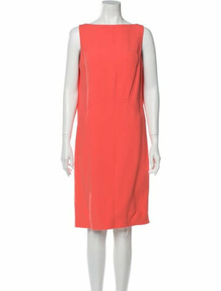 Chalayan Bateau Neckline Knee-Length Dress Pink