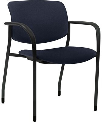 Lorell Contemporary Stackable Chair Seat Finish: Dark Blue