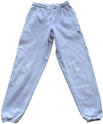 Vetements White Cotton Trousers for Women