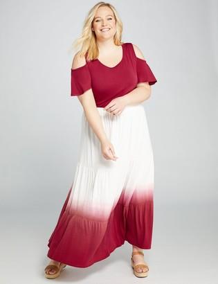Lane Bryant Dip-Dye Seamed Skirt