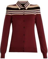 Bottega Veneta Padded-shoulder wool-blend cardigan
