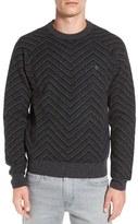 Original Penguin Men's Lambswool Zigzag Raglan Crewneck Sweater
