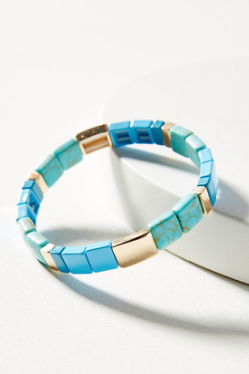 Anthropologie Serena Stretch Bracelet By in Blue Size ALL