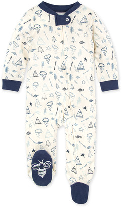 Burt's Bees Wild Wilderness Organic Baby Zip Front Loose Fit Pajamas