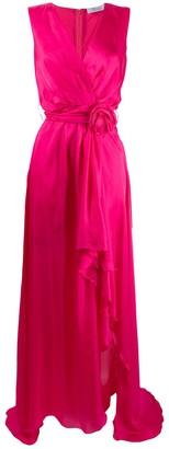 Blumarine Bow Detail Wrap-Style Dress