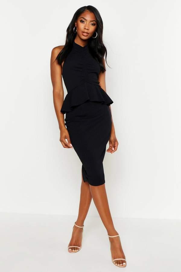 6da451517096 boohoo Peplum Dresses - ShopStyle
