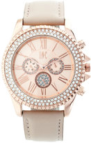 INC International Concepts Women's Pink Leather Strap Watch 40mm, Only at Macy's