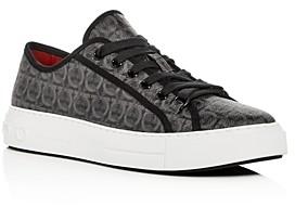 Salvatore Ferragamo Men's Anson Gancini Print Low-Top Sneakers