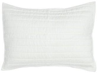 Gracie Oaks Cavender Linen Quilted Sham Size: Standard, Color: Natural