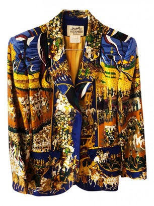 Hermes Blue Silk Jackets