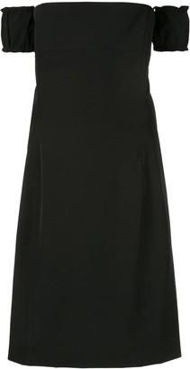 we11done detachable sleeve midi dress