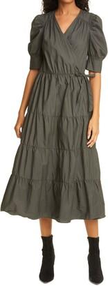 Birgitte Herskind Grith Tiered Organic Cotton Wrap Dress
