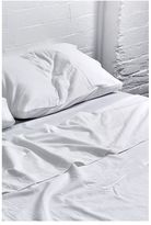 IN BED Flannel Flat Sheet - White
